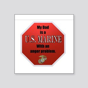 "USMC DAD Square Sticker 3"" x 3"""