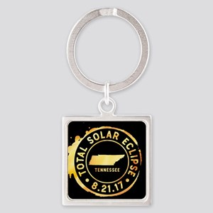 Eclipse Tennessee Square Keychain