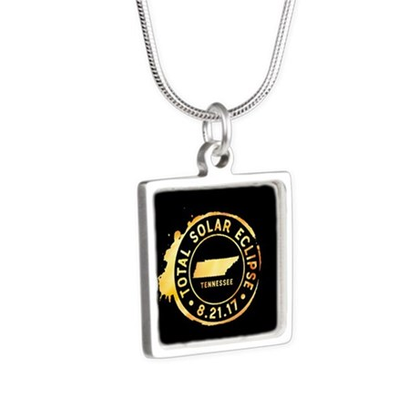 Eclipse Tennessee Silver Square Necklace