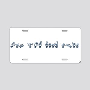 Can you read this Aluminum License Plate