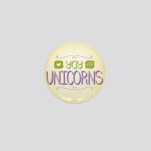 Yay for Unicorns Mini Button
