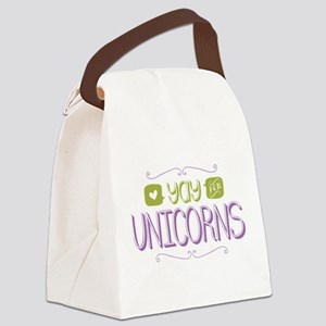 Yay for Unicorns Canvas Lunch Bag