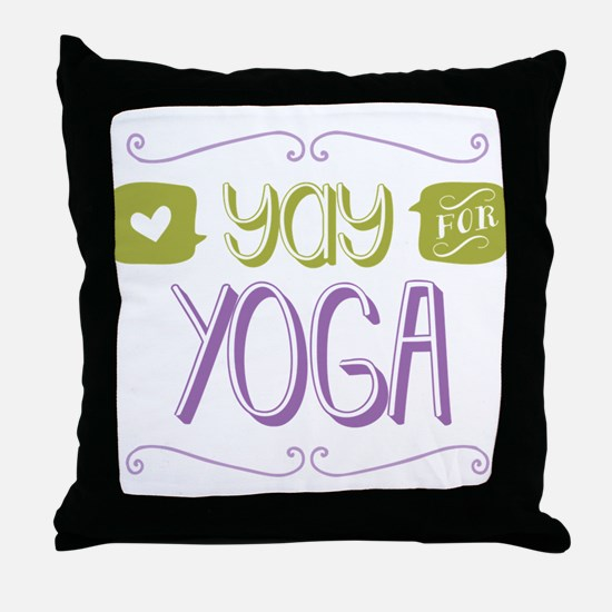 Yay for Yoga Throw Pillow