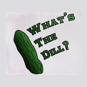 Whats the Dill? Throw Blanket