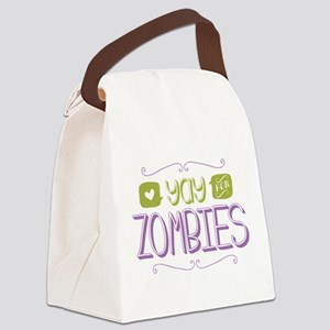 Yay for Zombies Canvas Lunch Bag