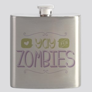 Yay for Zombies Flask