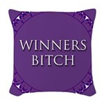 Winners Bitch Woven Throw Pillow