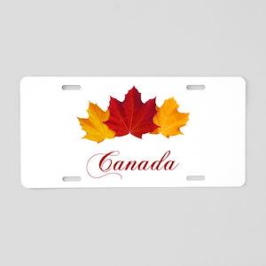 Canadian Maple Leaves Aluminum License Plate