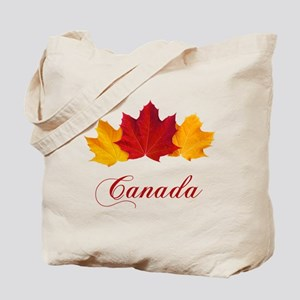 Canadian Maple Leaves Tote Bag