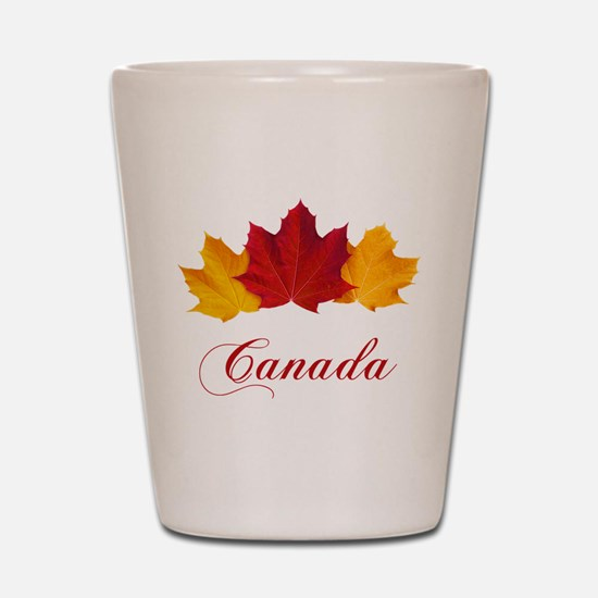 Canadian Maple Leaves Shot Glass