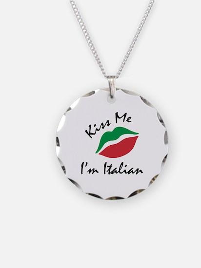 Kiss Me I'm Italian Necklace