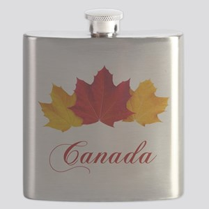 Canadian Maple Leaves Flask
