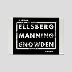 Ellsberg Manning Snowden Rectangle Magnet