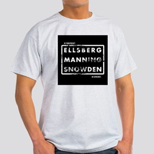 Ellsberg Manning Snowden Light T-Shirt