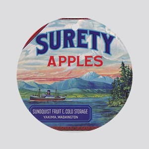 Surety Apples - larger Ornament (Round)
