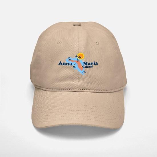 Anna Maria Island - Map Design. Baseball Baseball Cap