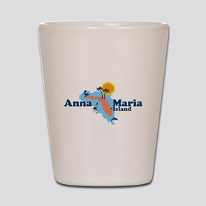 Anna Maria Island - Map Design. Shot Glass
