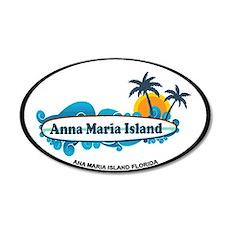Anna Maria Island - Surf Design. Wall Decal