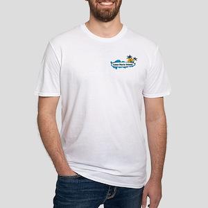 Anna Maria Island - Surf Design. Fitted T-Shirt
