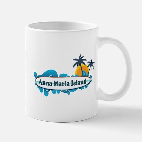 Anna Maria Island - Surf Design. Mug