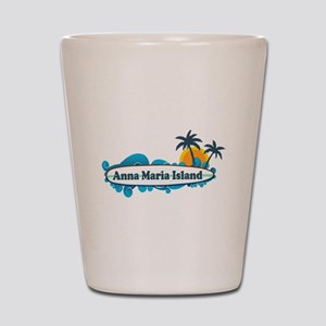 Anna Maria Island - Surf Design. Shot Glass