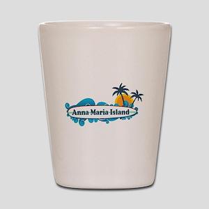 Anna Maria Island - Surf Design. Shot Glass