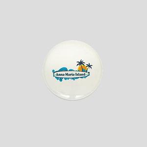 Anna Maria Island - Surf Design. Mini Button