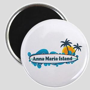 Anna Maria Island - Surf Design. Magnet