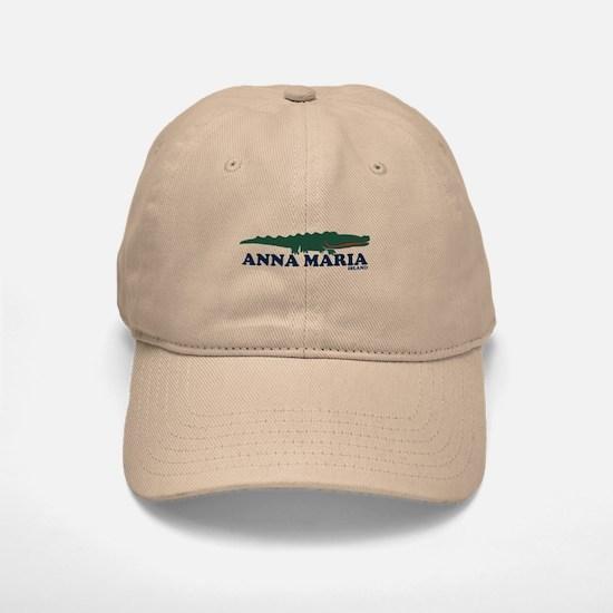 Anna Maria Island - Alligator Design. Baseball Baseball Cap