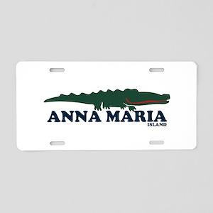 Anna Maria Island - Alligator Design. Aluminum Lic