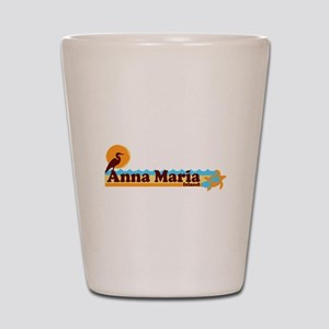 Anna Maria Island - Beach Design. Shot Glass