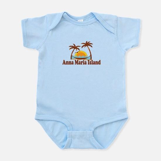 Anna Maria Island - Palm Trees Design. Infant Body