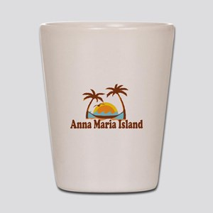 Anna Maria Island - Palm Trees Design. Shot Glass