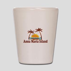 Anna Maria Island - Palm Trees Design. Shot Glass