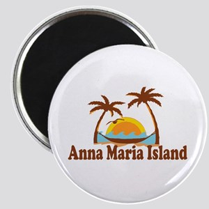 Anna Maria Island - Palm Trees Design. Magnet