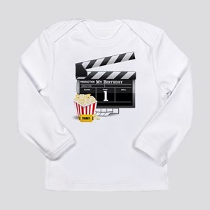 1st Birthday Hollywood Theme Long Sleeve Infant T-