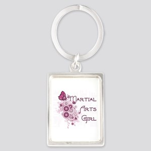 Martial Arts Girl Butterfly Keychains