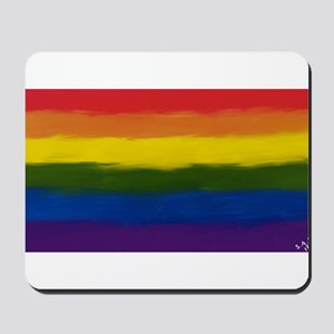 gay pride rainbow art Mousepad