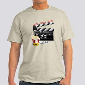 20th Birthday Hollywood Theme Light T-Shirt