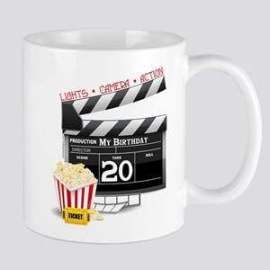 20th Birthday Hollywood Theme Mug
