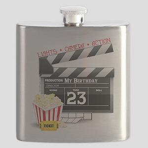 23rd Movie Birthday Flask