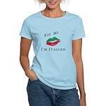 Kiss Me I'm Italian Love Women's Light T-Shirt