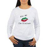 Kiss Me I'm Italian Lo Women's Long Sleeve T-Shirt