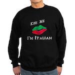 Kiss Me I'm Italian Love Sweatshirt (dark)