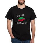 Kiss Me I'm Italian Love Dark T-Shirt