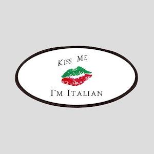 Kiss Me I'm Italian Love Patches