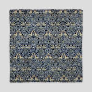 Morris Blue Pattern with Birds Queen Duvet