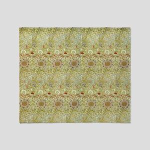 Corncockle design by William Morris Throw Blanket