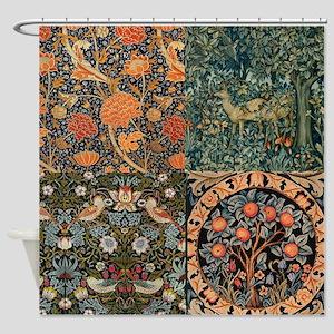 William Morris Designs Collage Shower Curtain