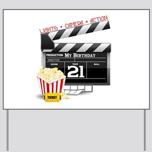 21st Movie Birthday Yard Sign
